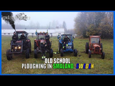 OLD SCHOOL PLOUGHING   Volvobm, Ford, MF, Belarus   In Småland, Sweden