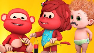 �������� ���� Five Little Monkeys Jumping On The Bed Nursery Rhyme - Ultra HD 4K - rhymes and baby songs for kids ������