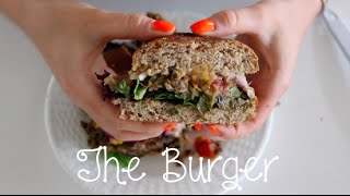 The Mediterranean Veggie Burger! (quick, Easy, Vegan)