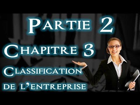 L'entreprise et Son Environnement Chapitre 3 : Classification Par Taille/Dimension ( Darija )