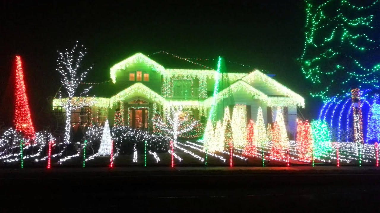Christmas Light Show Absecon 2012 - YouTube