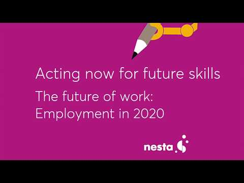 Acting now for future skills - The future of work: Employment in 2020