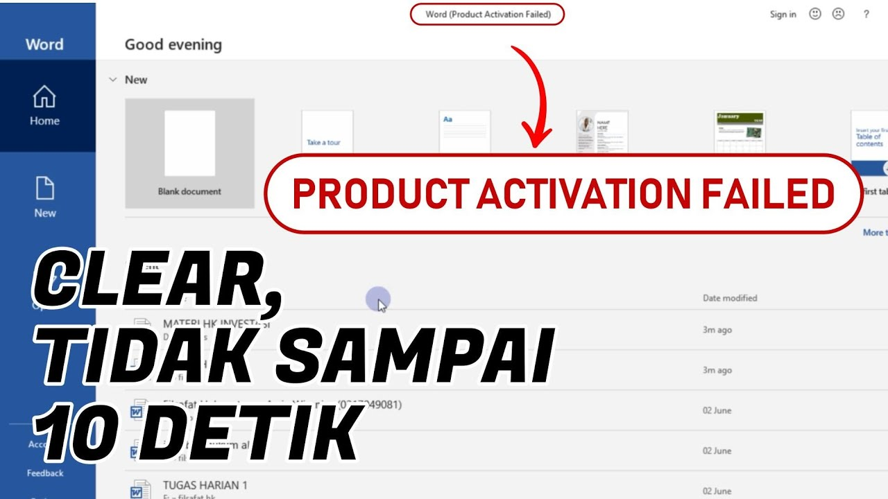 How To Fix Product Activation Failed Office 2016 Youtube