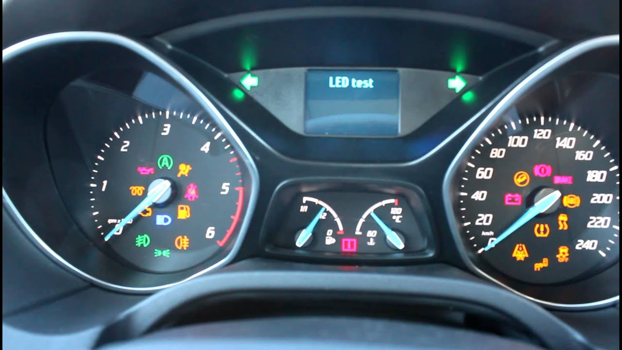 Ford Focus3 Trip & Gauge Sweep & Led Test Mode