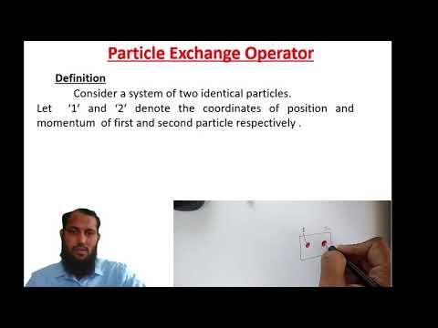 QM01|Particle Exchange Operator Definition| Quantum Mechanics