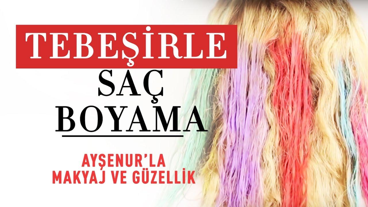 Sac Boyama Tebesirle Sac Boyama Youtube