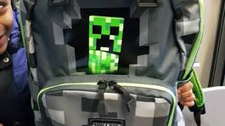 Minecraft creeper school bag review by gabriel