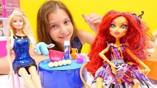 Polen ile en güzel #kızoyunları! #MonsterHigh, Barbie, Rapunzel ve Niloya oyuncakları ile oyunlar!