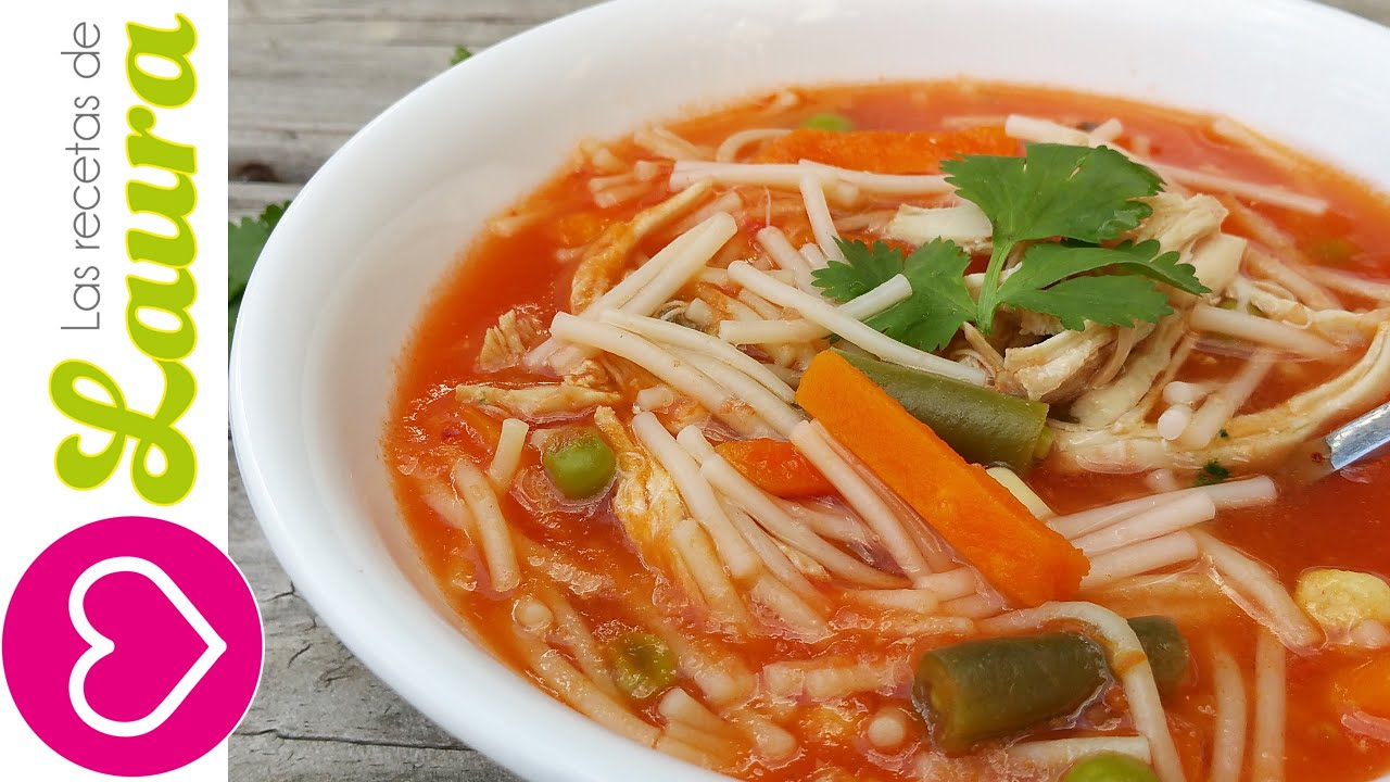 Como preparar Sopa de Fideo Mexicana Saludable  YouTube