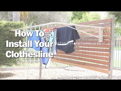 How To Install A Fold Down Clothesline Diy At Bunnings