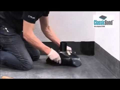 How To Install A Flat Roof Pipe Seal Detail Youtube