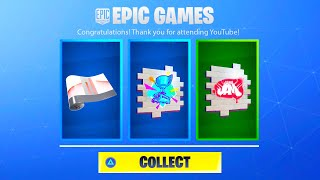 FORTNITE NEW FREE YOUTUBE REWARDS! HOW TO LINK EPIC GAMES ACCOUNT WITH YOUTUBE! YOUTUBE REWARDS