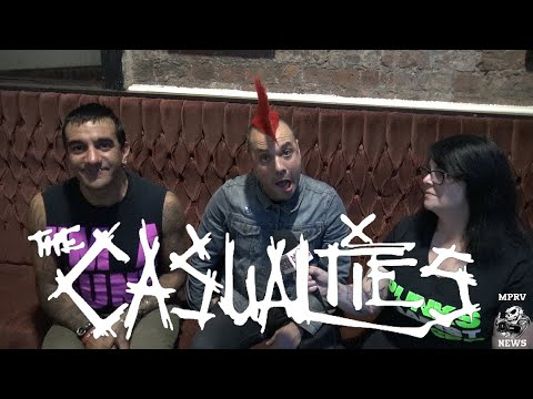 THE CASUALTIES (New Singer David Rodriguez) - Interview & Live Footage - August 2017 - MPRV News