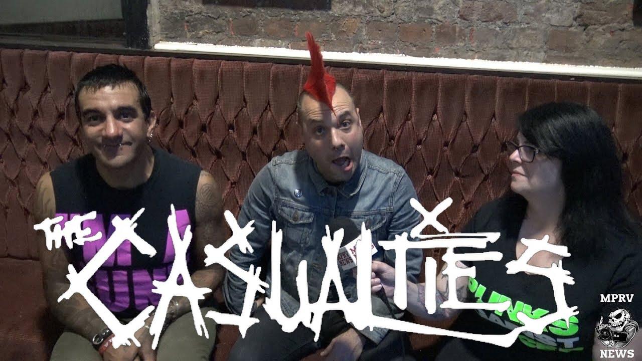 THE CASUALTIES (New Singer David Rodriguez) - Interview ...