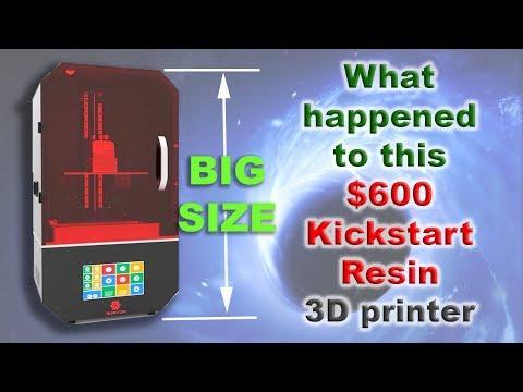BIG $600 Kickstart Resin SLA 3D printer , What happened ?