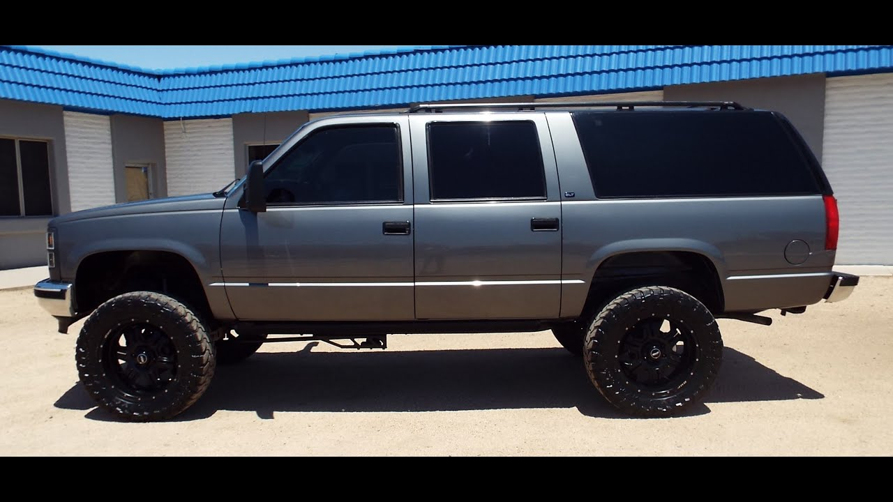 small resolution of 1999 gmc suburban 1500 4wd lifted custom 20 s leather pr1226