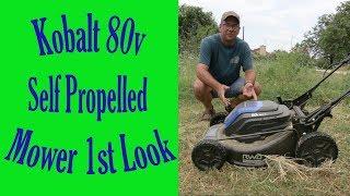 Kobalt 80V Mower Unboxing and Review