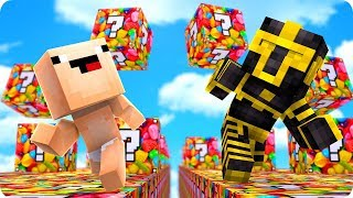 CARRERA DE LUCKY BLOCKS DE GOMINOLAS EN MINECRAFT 😱