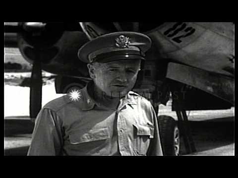 General Thomas Farrell, Deputy Commander, Atom Bomb Project expresses his views a...HD Stock Footage