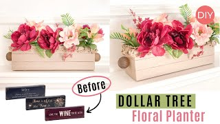 3 Dollar Tree Canvas Signs Turned Into Decorative Flower Planter 😱 | Ashleigh Lauren