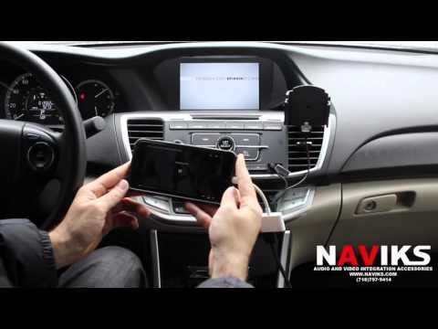 2014 Honda Accord NAVIKS HDMI Video Interface Add: Rearview Camera, Smartphone Mirroring