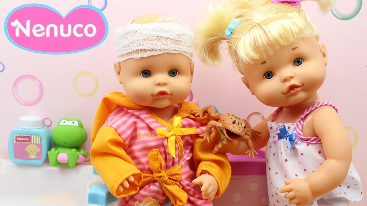 gusano Tender Hubert Hudson  Hora del Baño de las Bebés Nenuco Hermanitas Traviesas | Baño de Burbujas  Nenuco Naia y Alice - YouTube