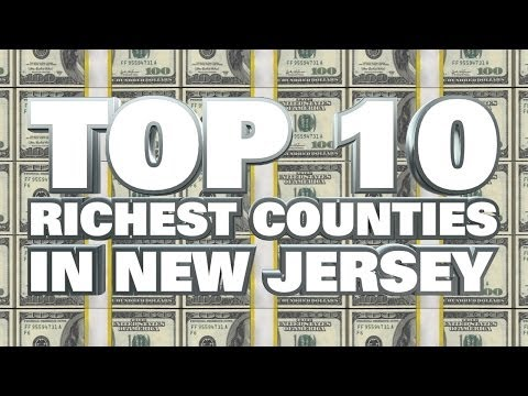 10 Richest counties in New Jersey 2014