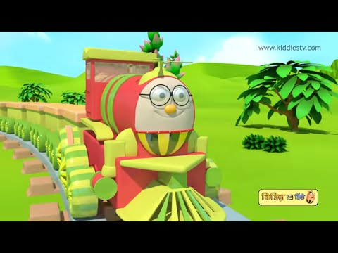 Humpty the train has fun with his vegetable friends hindi song | Hindi kids song | Kiddiestv hindi