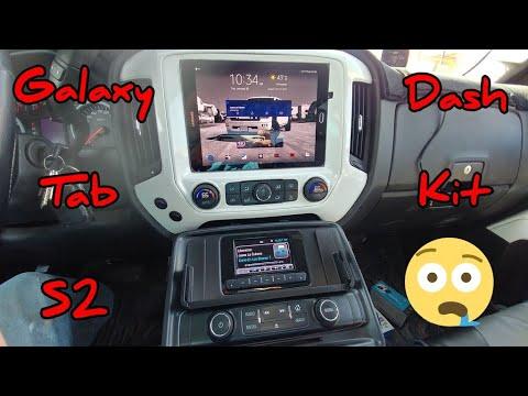 2014 Silverado Galaxy Tab S2 Dash Kit, Truck Tablet Kit