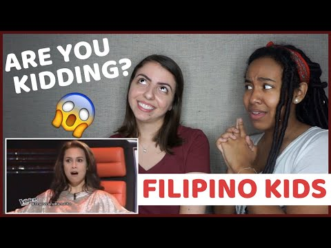 PHILIPPINE KIDS NAILING ENGLISH SONGS (REACTION)