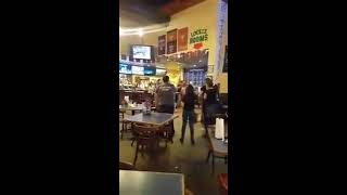 FIGHT BREAKS OUT AT BAYOU CITY WINGS IN HOUSTON CHAIRS THROWN