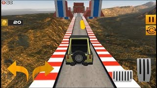 Impossible Jeep Stunt Driving Impossible Tracks - Android Gameplay FHD