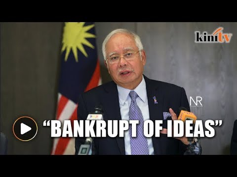 Najib: Malaysia not going bankrupt, opposition bankrupt of ideas