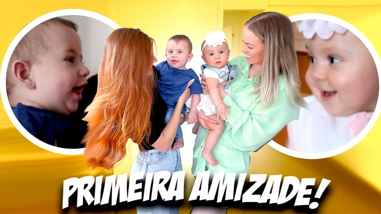 MEU BABY CONHECEU A PRIMEIRA AMIGUINHA! ft. Bia Tacielo