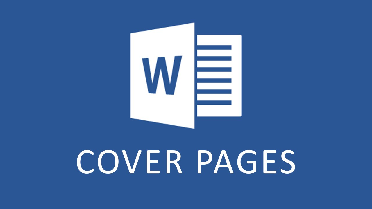 cover page for ms word