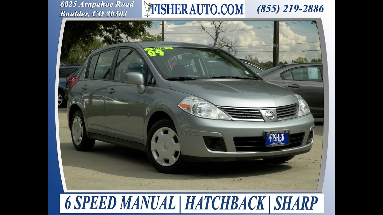 2009 nissan versa 1 8s silver 9 900 boulder colorado fisher rh youtube com 2009 Nissan Versa Hatchback Inside 2009 Nissan Versa Hatchback White