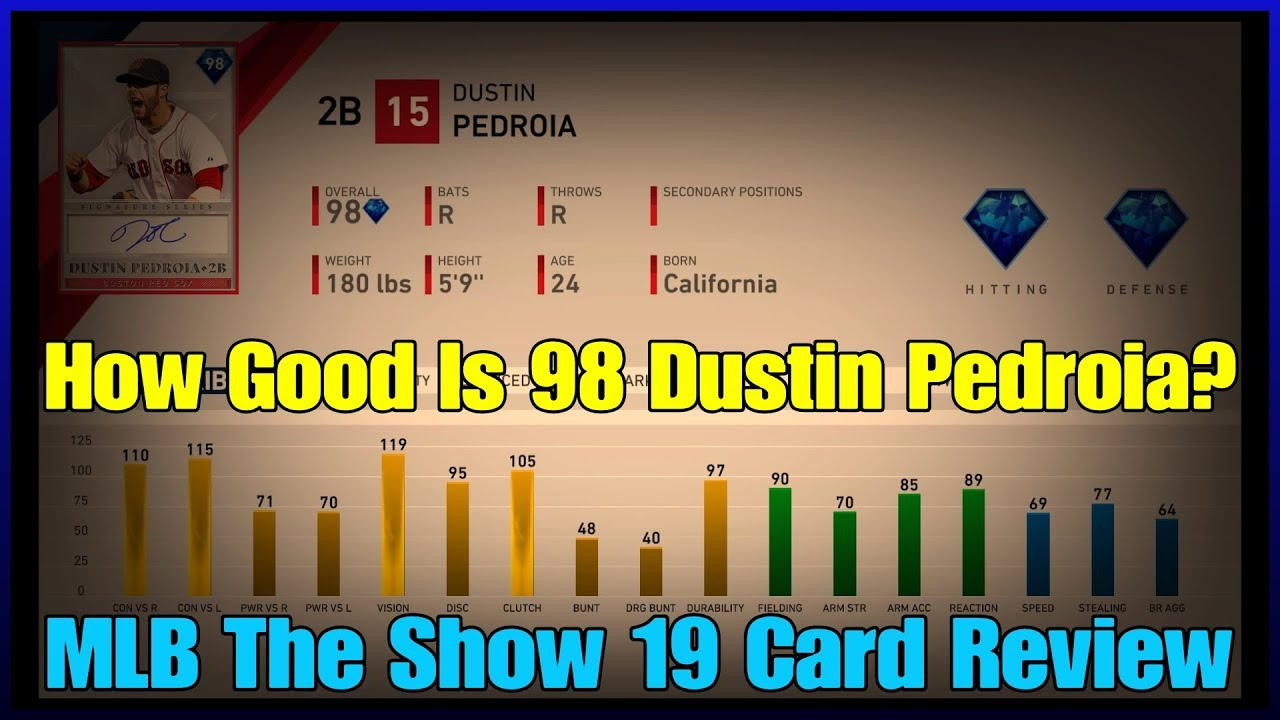 How Good Is 98 Dustin Pedroia? (Card Review From a Top 50 Player) [MLB The Show 19]