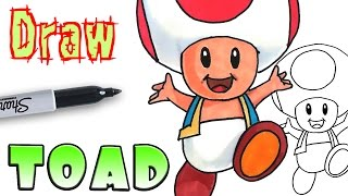 How to Draw Toad - Mario - Coloring Pages