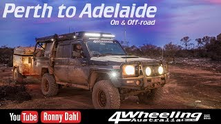 Perth to Adelaide, on & off-road