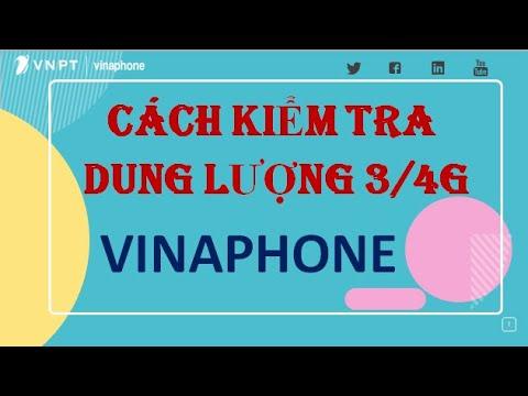 Cách Kiểm tra Dung lượng 3G,4G Vinaphone| Vinaphonevn.com