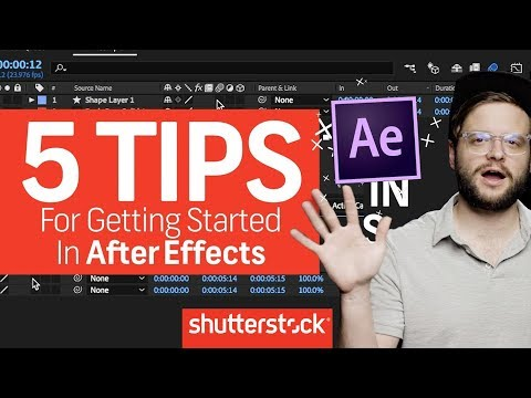 5 Tips For Getting Started In After Effects | Motion Graphics Tutorials