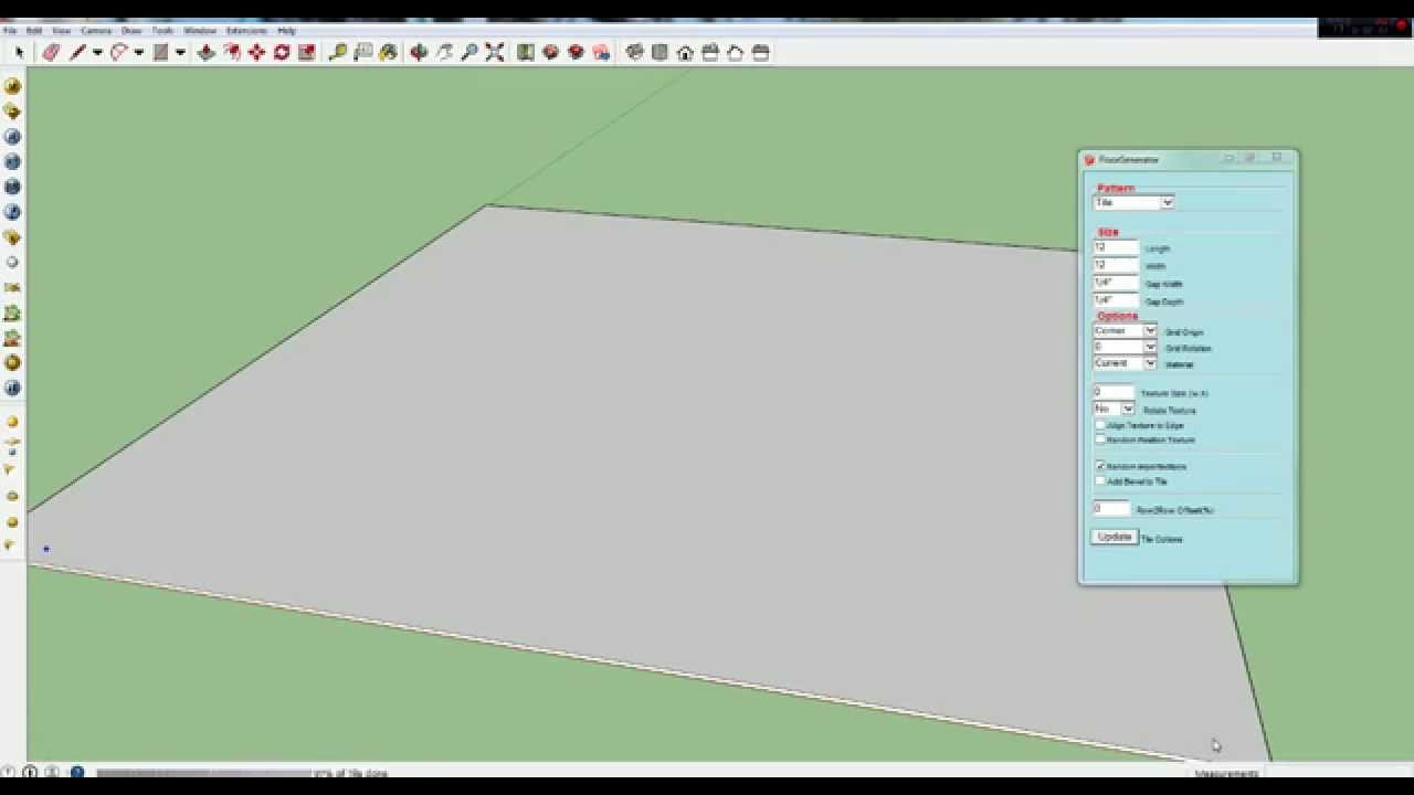 Sketchup Plugin - Floor Generator - YouTube