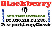 How to remove Blackberry 10 Anti Theft Protection ID
