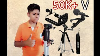 #10 Unboxing Hindi Proton 4.5 fit, collar mic, tripod mobile holder in 2019🔥🔥 (Ankit Guruji)