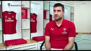 Sokratis Papastathopoulos' first Arsenal interview