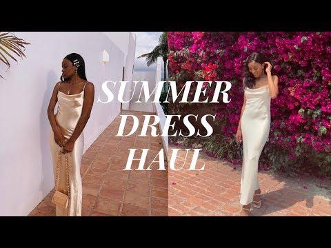 Summer Dress Haul   ZARA   Reformation   Rat & Boa  Nasty Gal