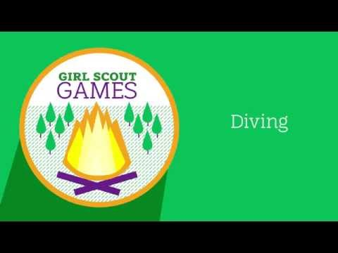 Girl Scout Games: Diving