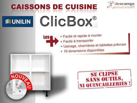 Descamps Caissons De Cuisine Clicbox Youtube