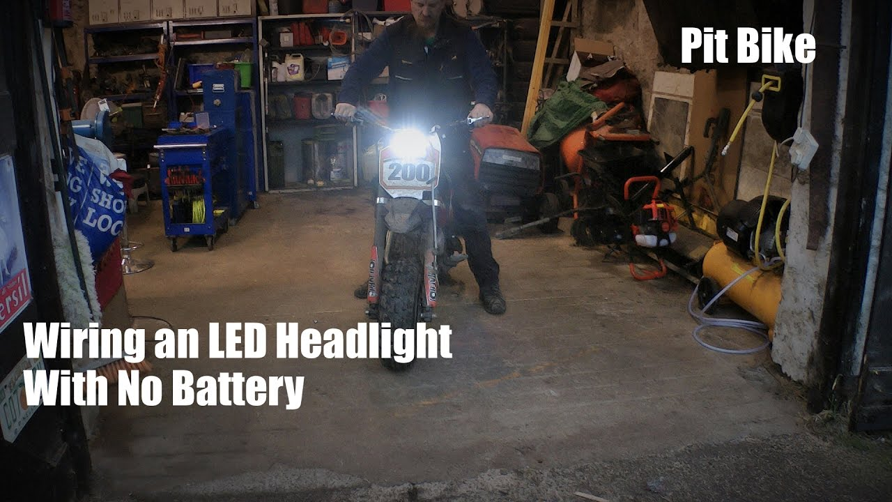 stop start wiring diagram similarities and differences between mitosis meiosis venn fitting led light to pit bike with no battery - youtube