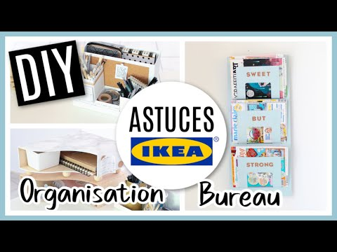 DIY IKEA HACKS : Astuces Rangement & Deco BUREAU - Séverine Jenny